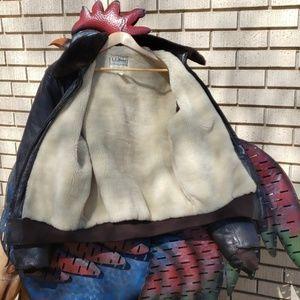 L.L. Bean Jackets & Coats - L.L. Bean Leather Bomber Jacket